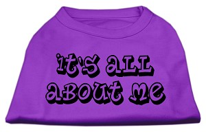 It's All About Me Screen Print Shirts Purple Med (12)