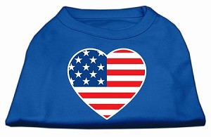 American Flag Heart Screen Print Shirt Blue Sm (10)