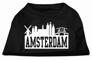Amsterdam Skyline Screen Print Shirt Black Med (12)
