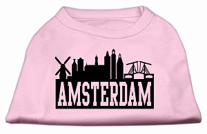 Amsterdam Skyline Screen Print Shirt Light Pink XXXL (20)
