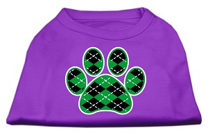 Argyle Paw Green Screen Print Shirt Purple Sm (10)
