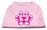 Argyle Paw Pink Screen Print Shirt Light Pink XS (8)