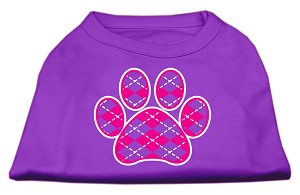 Argyle Paw Pink Screen Print Shirt Purple Med (12)