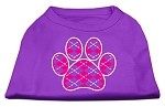 Argyle Paw Pink Screen Print Shirt Purple XS (8)