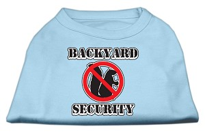 Backyard Security Screen Print Shirts Baby Blue S (10)