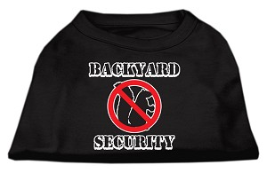 Backyard Security Screen Print Shirts Black XL (16)