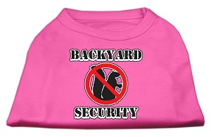 Backyard Security Screen Print Shirts Bright Pink XL (16)