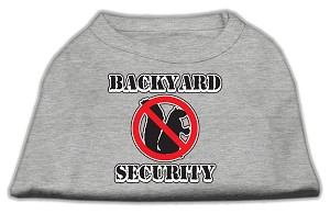 Backyard Security Screen Print Shirts Grey M (12)