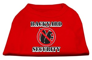 Backyard Security Screen Print Shirts Red S (10)