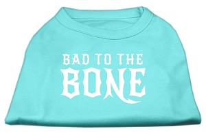 Bad to the Bone Dog Shirt Aqua Med (12)