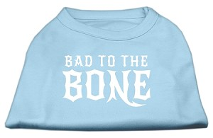 Bad to the Bone Dog Shirt Baby Blue XXL (18)