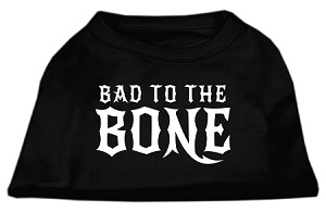 Bad to the Bone Dog Shirt Black Med (12)