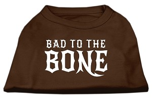 Bad to the Bone Dog Shirt Brown XL (16)
