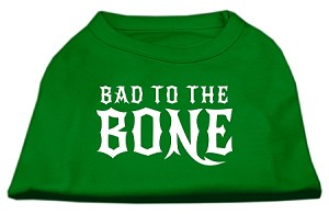Bad to the Bone Dog Shirt Emerald Green XL (16)