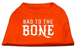 Bad to the Bone Dog Shirt Orange Med (12)