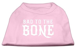 Bad to the Bone Dog Shirt Light Pink XXL (18)