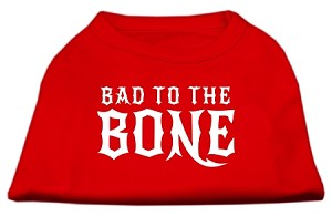 Bad to the Bone Dog Shirt Red XXL (18)