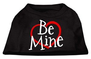 Be Mine Screen Print Shirt Black Med (12)