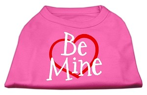 Be Mine Screen Print Shirt Bright Pink Sm (10)