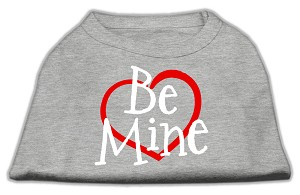Be Mine Screen Print Shirt Grey Sm (10)