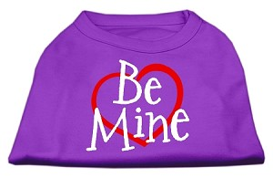 Be Mine Screen Print Shirt Purple Lg (14)