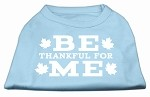 Be Thankful for Me Screen Print Shirt Baby Blue XS (8)