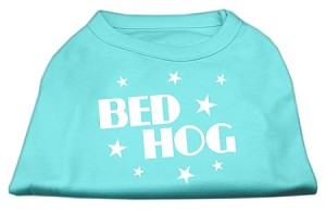 Bed Hog Screen Printed Shirt Aqua Lg (14)