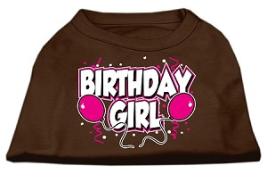 Birthday Girl Screen Print Shirts Brown Lg (14)