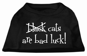Black Cats are Bad Luck Screen Print Shirt Black XXL (18)