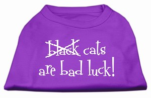 Black Cats are Bad Luck Screen Print Shirt Purple XL (16)