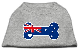 Bone Shaped Australian Flag Screen Print Shirts Grey XS (8)
