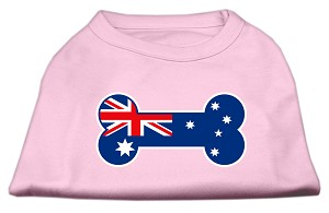 Bone Shaped Australian Flag Screen Print Shirts Light Pink L (14)