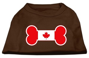 Bone Shaped Canadian Flag Screen Print Shirts Brown XXXL (20)