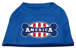 Bonely in America Screen Print Shirt Blue Med (12)
