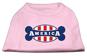 Bonely in America Screen Print Shirt Light Pink Sm (10)