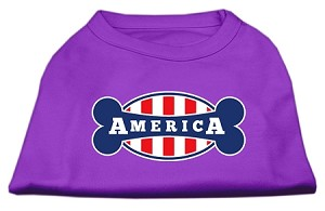 Bonely in America Screen Print Shirt Purple XS (8)