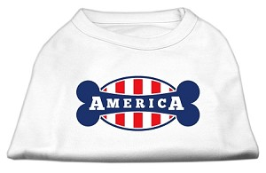 Bonely in America Screen Print Shirt White Med (12)