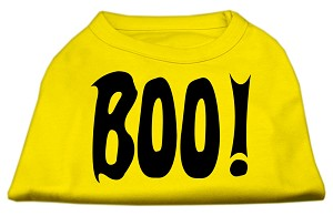 Boo! Screen Print Shirts Yellow Lg (14)