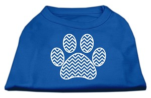 Chevron Paw Screen Print Shirt Blue XL (16)