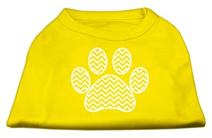 Chevron Paw Screen Print Shirt Yellow XL (16)