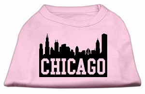 Chicago Skyline Screen Print Shirt Light Pink XL (16)