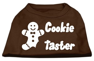Cookie Taster Screen Print Shirts Brown XS (8)