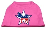 Democrat Screen Print Shirts Bright Pink XS (8)