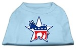 Democrat Screen Print Shirts Baby Blue XS (8)