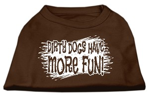 Dirty Dogs Screen Print Shirt Brown XXL (18)