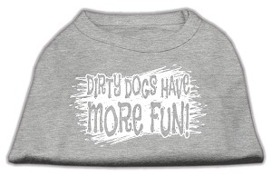 Dirty Dogs Screen Print Shirt Grey XS (8)