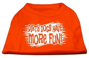 Dirty Dogs Screen Print Shirt Orange Med (12)