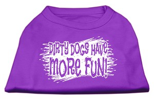 Dirty Dogs Screen Print Shirt Purple Lg (14)