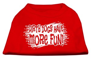 Dirty Dogs Screen Print Shirt Red XXXL (20)