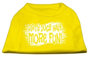 Dirty Dogs Screen Print Shirt Yellow Lg (14)